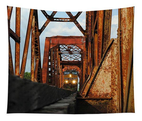 Brazos River Railroad Bridge Tapestry