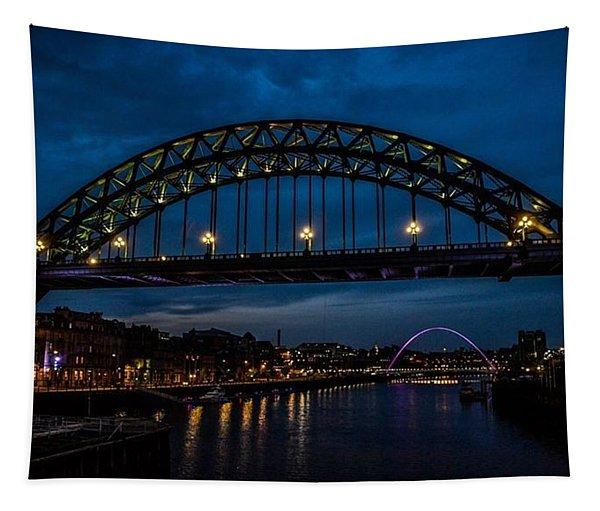 Bridge At Dusk Tapestry