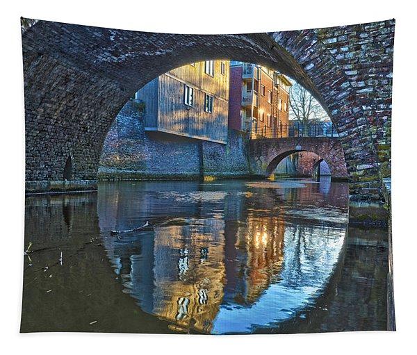 Bridges Across Binnendieze In Den Bosch Tapestry