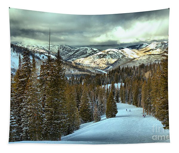 Brighton Storm Clouds Over Big Cottonwood Canyon Tapestry