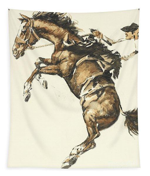 Bucking Horse Facing Left Tapestry