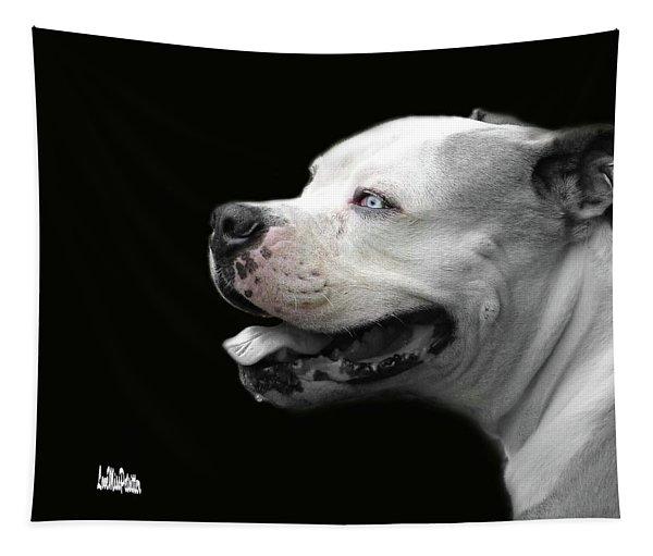 Bulldog Sando  Portrait  Tapestry