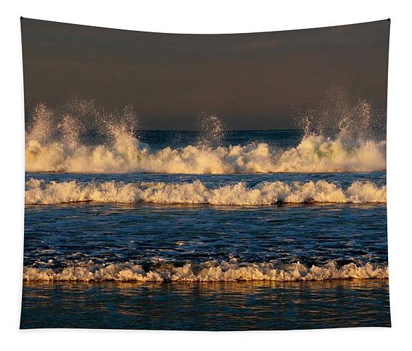Tapestry featuring the photograph Dancing Waves - 3 by Christy Pooschke