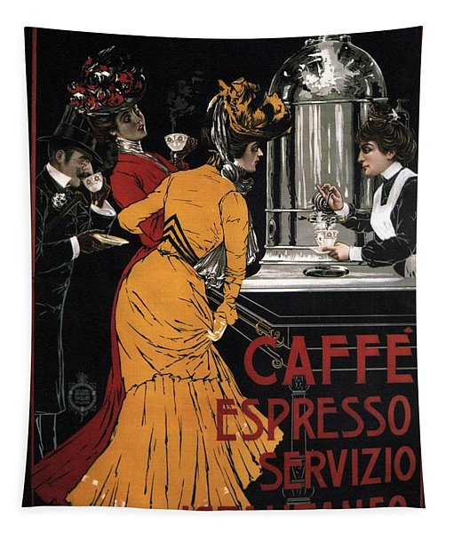 Caffe Espresso Servizio Istantaneo - Vintage Advertising Poster Tapestry