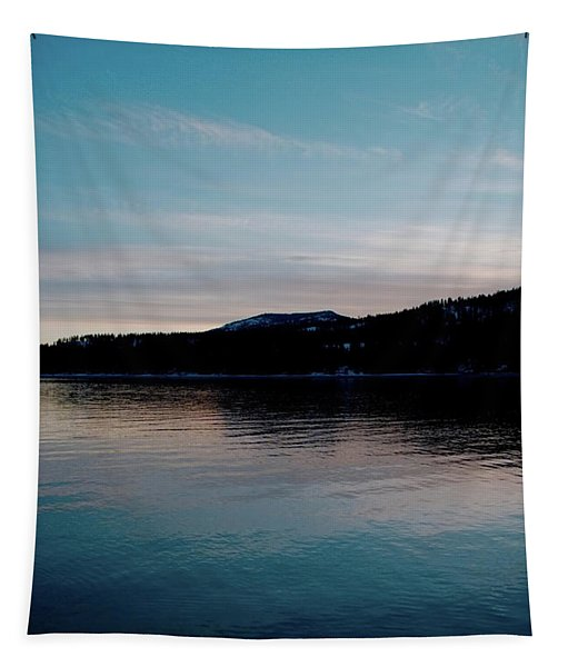 Calm Blue Lake Tapestry