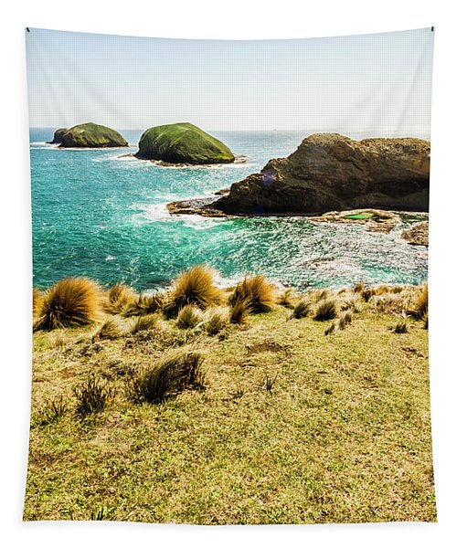Captivating Coastal Cliff Tapestry