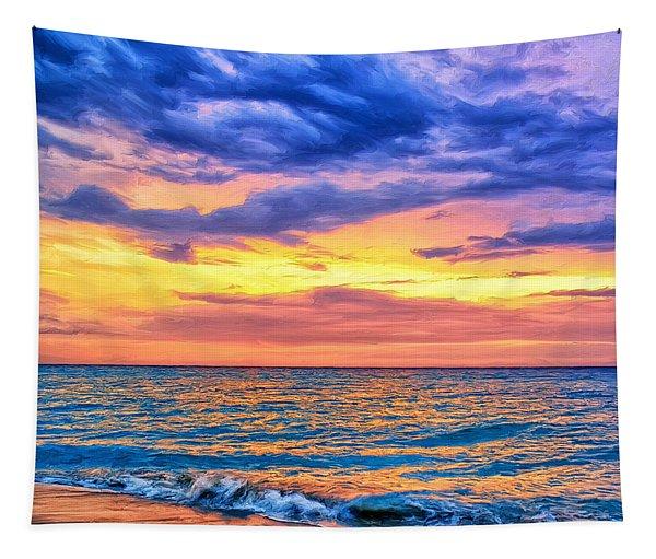 Caribbean Sunset Tapestry