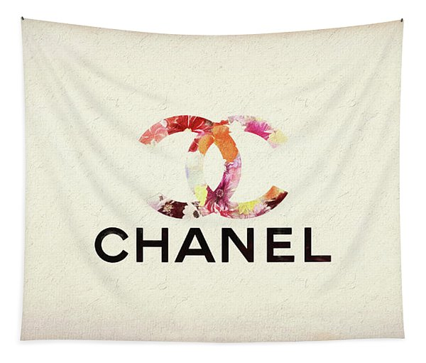 Chanel Floral Texture  Tapestry