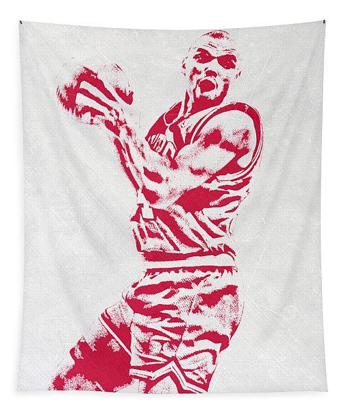 Charles Barkley Philadelphia Sixers Pixel Art Tapestry