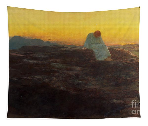 Christ In The Wilderness Tapestry