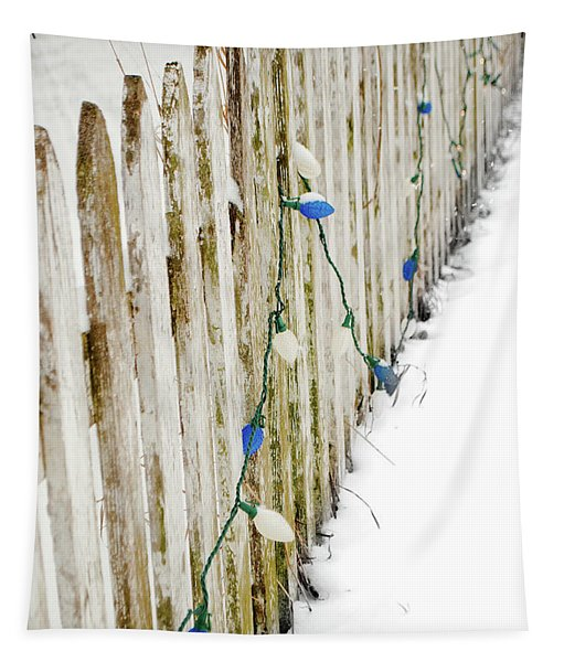 Christmas Fence Tapestry