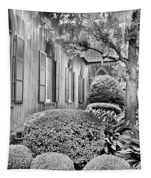 Church Of The Cross Bluffton Sc Black And White Tapestry