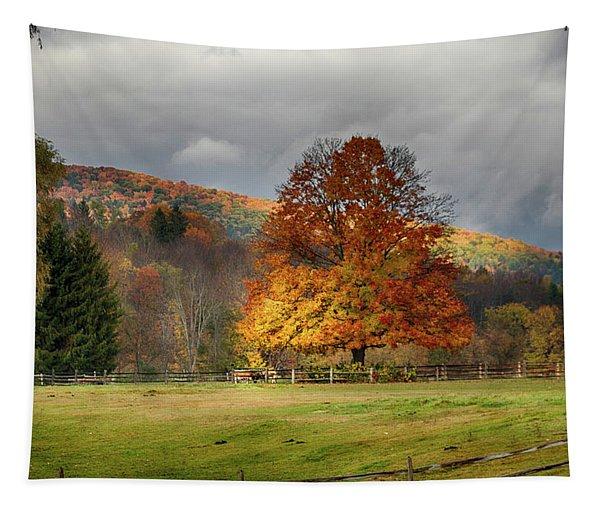 Clouds Part Over Marsh Billings-rockefeller Nhp Tapestry
