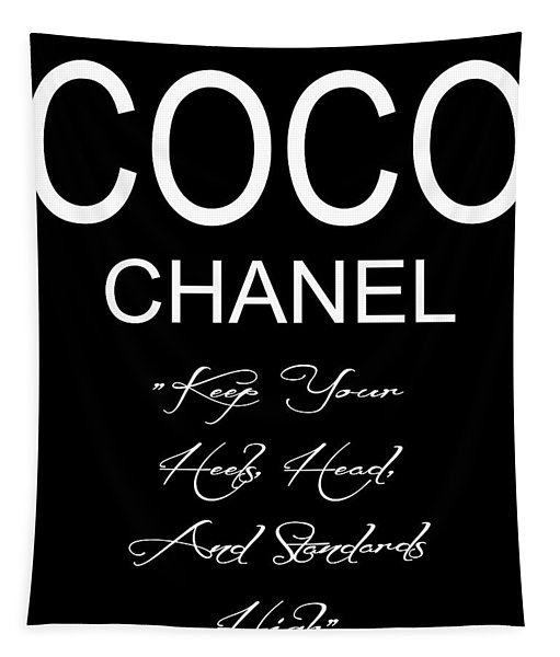 Coco Chanel Quote 2 Tapestry