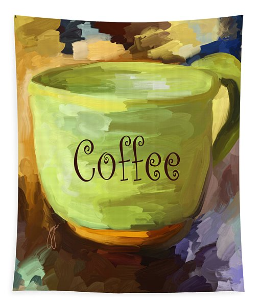 Coffee Cup Tapestry