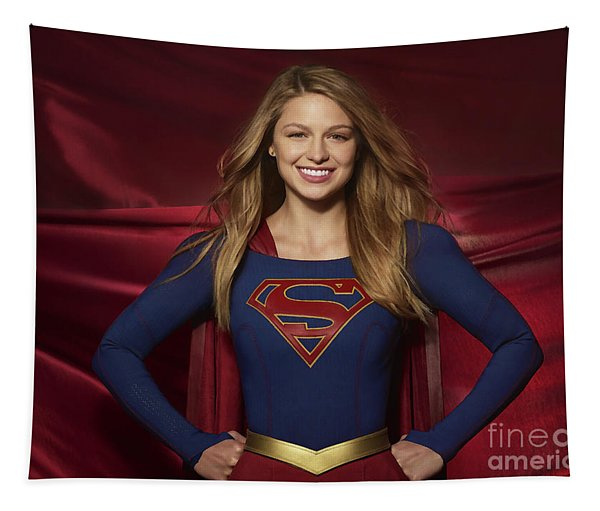 Colored Pencil Study Of Supergirl - Melissa Benoist Tapestry