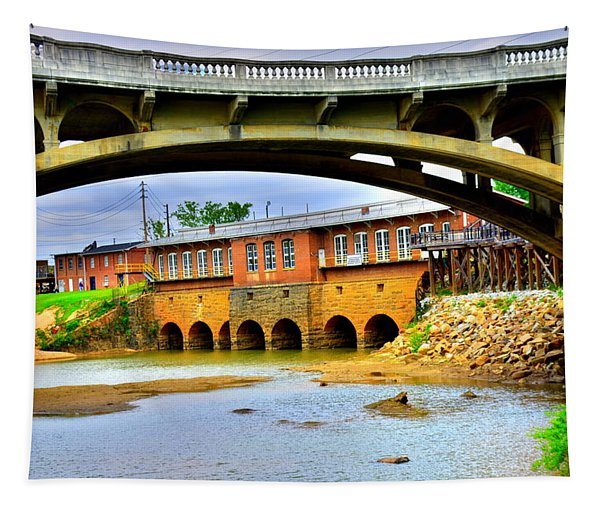 Columbia Canal At Gervais Street Bridge Tapestry
