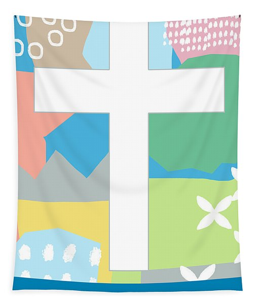 Contemporary Easter Cross- Art By Linda Woods Tapestry