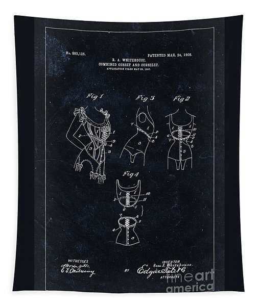 Corset Patent From 1908 - Black Tapestry