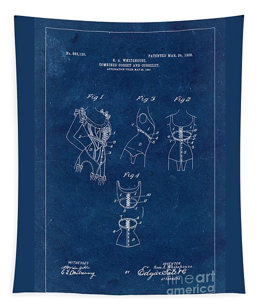 Corset Patent From 1908 - Blue Tapestry