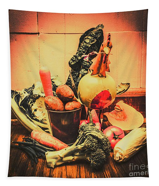 Country Kitchen Art Tapestry