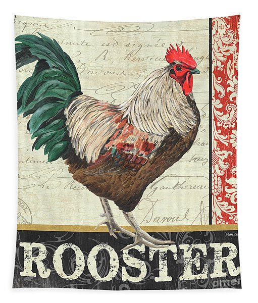 Country Rooster 1 Tapestry
