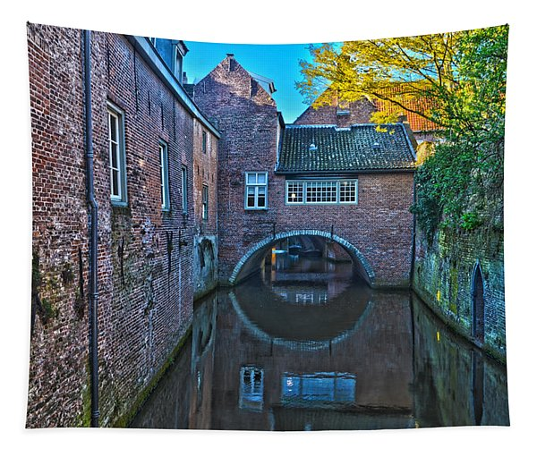 Covered Canal In Den Bosch Tapestry