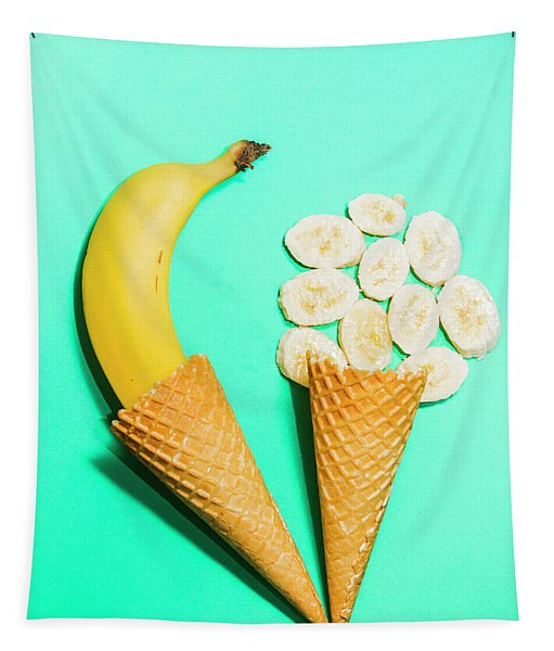 Creative Banana Ice-cream Still Life Art Tapestry