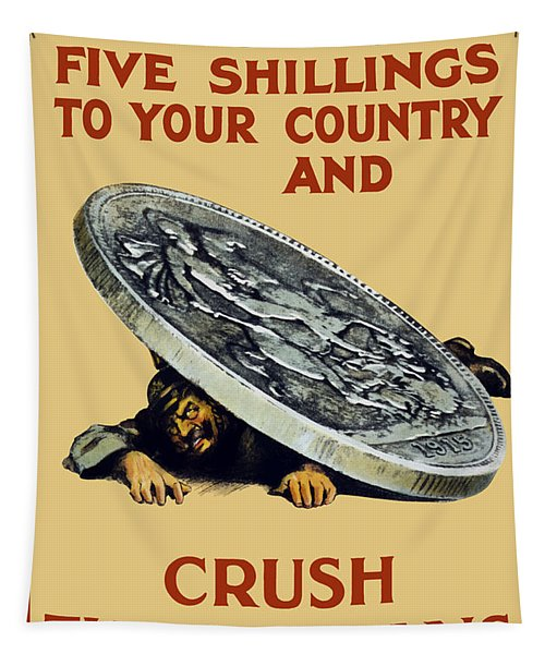 Crush The Germans - Ww1 Tapestry
