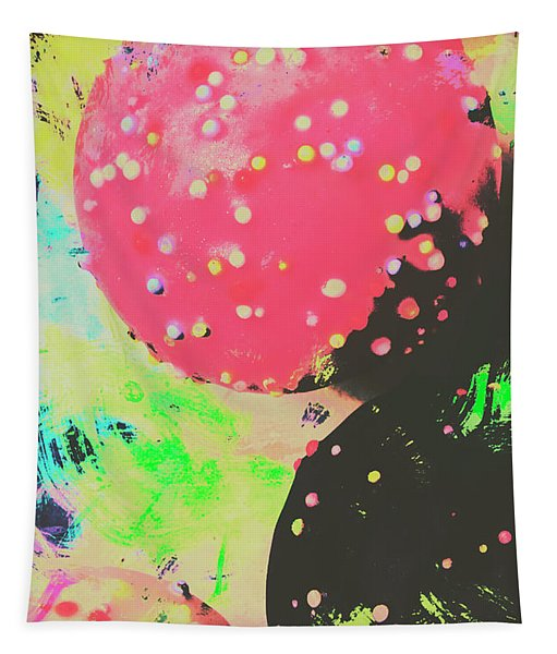 Cup Cake Birthday Splash Tapestry