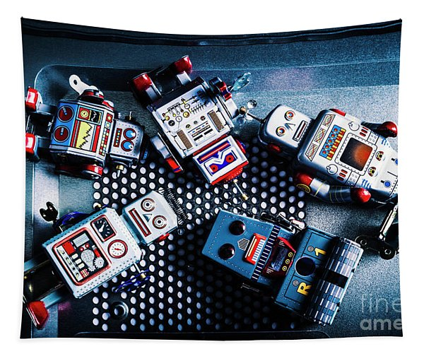 Cyborg Technology Reset Tapestry