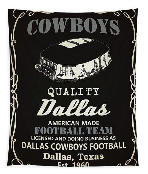 Dallas Cowboys Whiskey Tapestry
