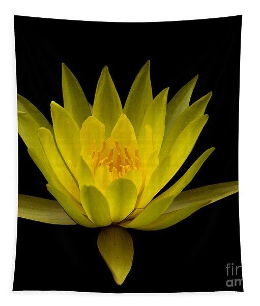 Dancing Yellow Lotus Tapestry