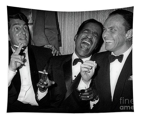Dean Martin, Sammy Davis Jr. And Frank Sinatra Laughing Tapestry