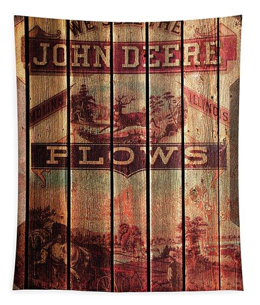 Deere Walking Cultivator Tapestry