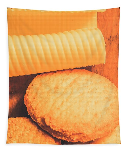 Delicious Cookies With Piece Of Butter Tapestry