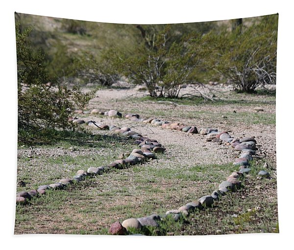 Tapestry featuring the photograph Desert Walking Trail  by Christy Pooschke