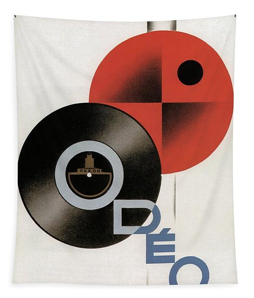 Disques Odeon - Vintage Advertising Poster Tapestry