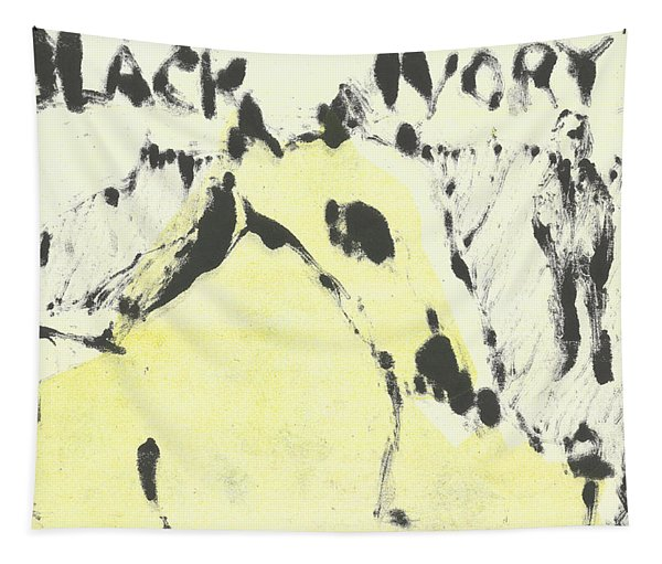 Dog At The Beach - Black Ivory 1 Tapestry