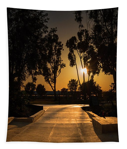 Dominguez Hills Sunset Tapestry