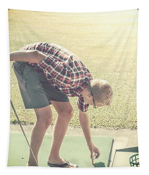 Driving Range Golf Tapestry