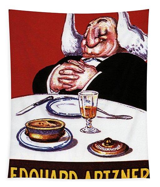 Edouard Artzner Pates De Foie Gras Strasbourg - Vintage Advertising Poster Tapestry