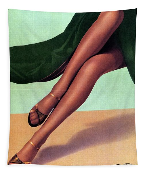 Elbeo Tights And Stockings - High Heels - Vintage Advertising Poster Tapestry