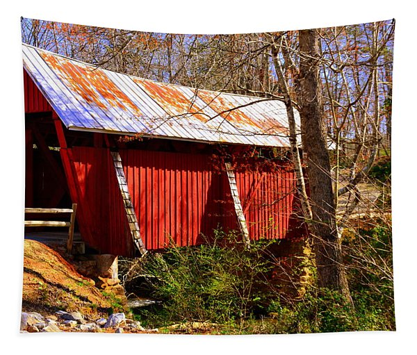 Est. 1909 Campbell's Covered Bridge Tapestry