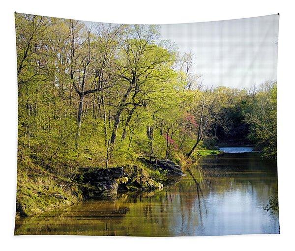 Evening Falls On Cedar Creek Tapestry