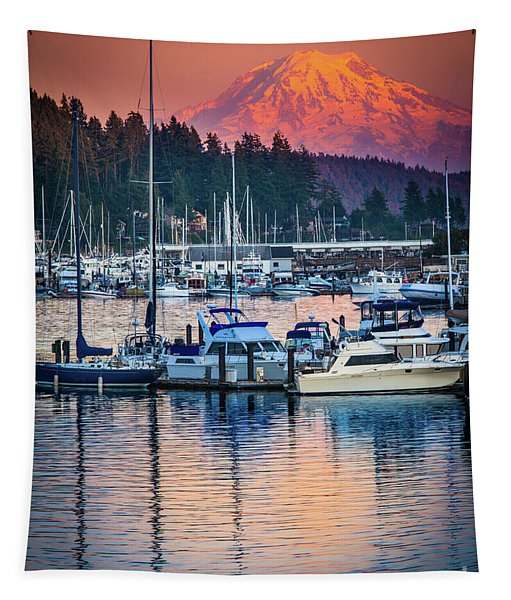 Evening In Gig Harbor Tapestry