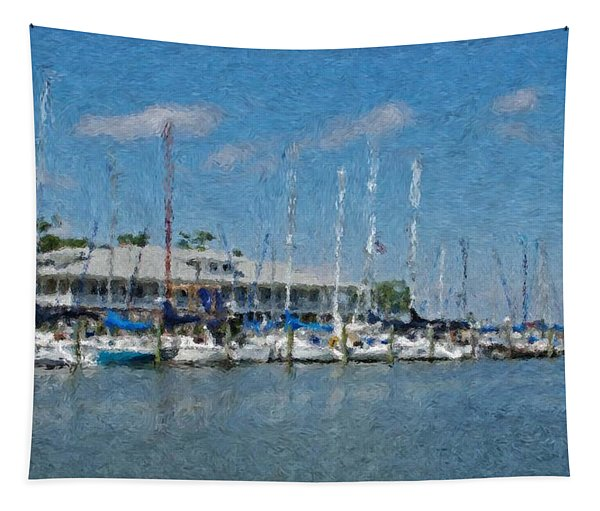 Fairhope Yacht Club Impression Tapestry