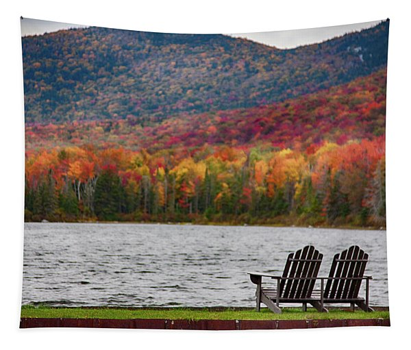 Fall Foliage At Noyes Pond Tapestry