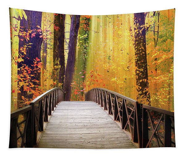 Fanciful Footbridge Tapestry