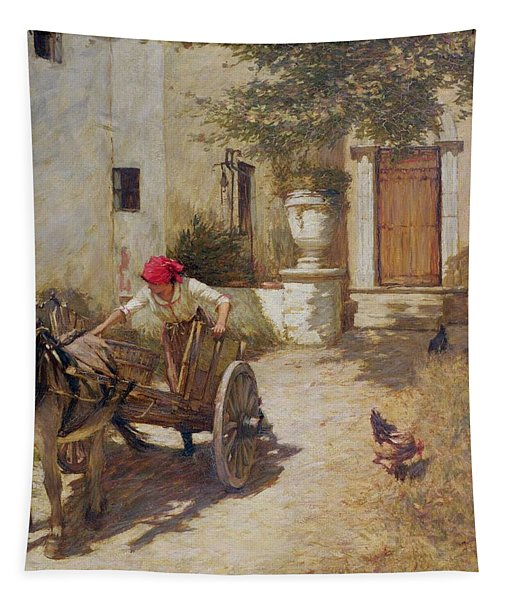 Farm Yard Scene Tapestry